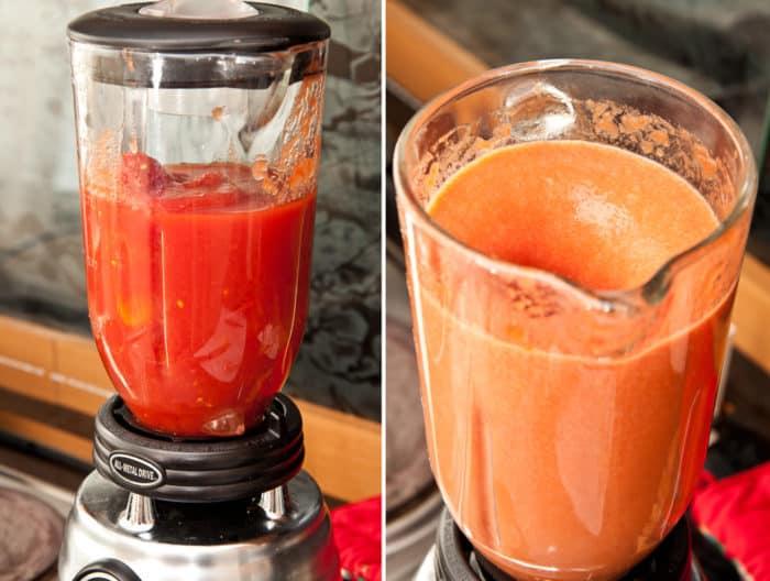 salsa de tomate casera licuadora