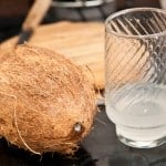 agua de coco para leche de coco