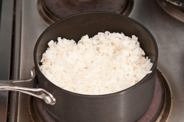 arroz con coco listo