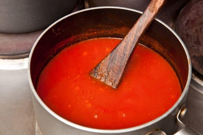 salsa de tomate casera lista