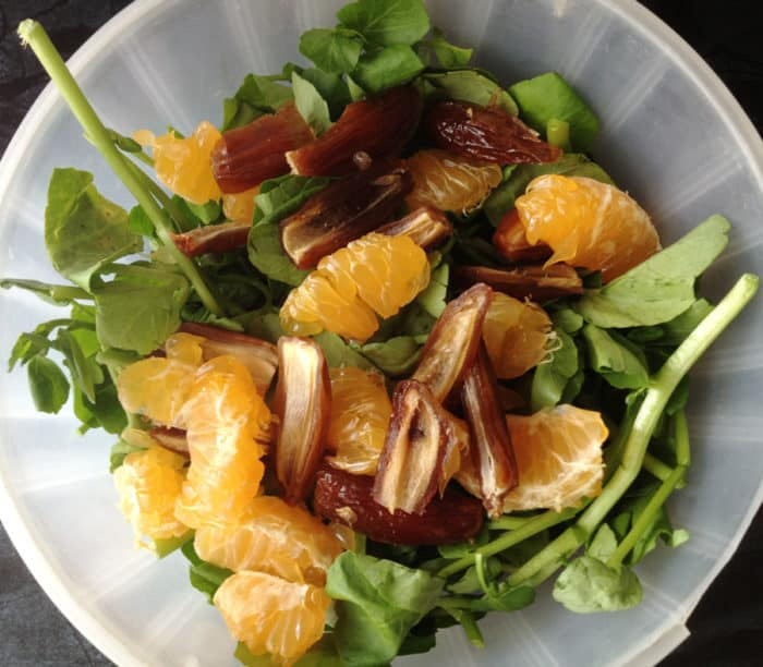 ensalada datiles mandarinas