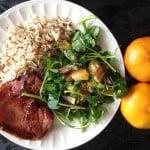 ensalada de datiles y mandarinas