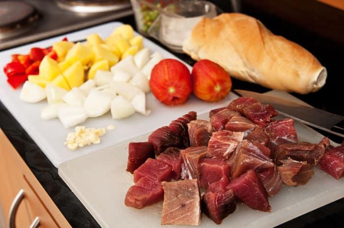 ingredientes marmitako de atún