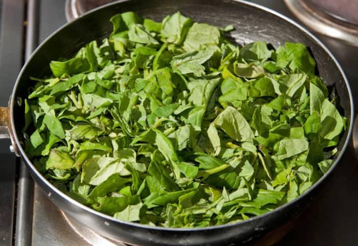 receta de espinacas