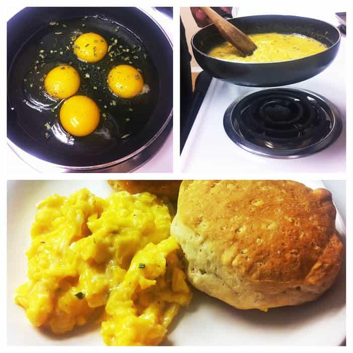 huevos revueltos cremosos