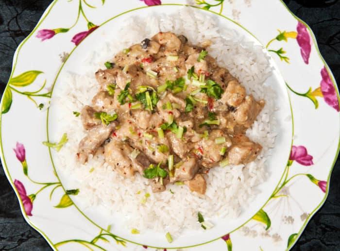 receta de strogonoff de cerdo