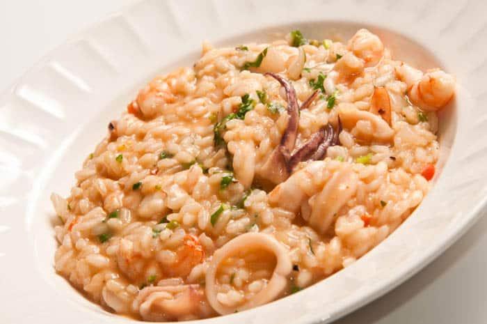 receta de risotto de mariscos
