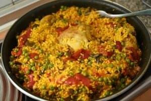 arroz con pollo ya cocinado