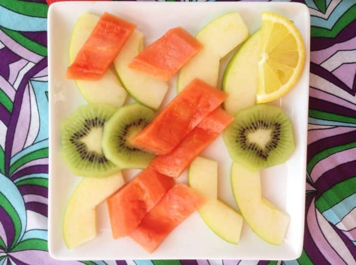 desayunando frutas