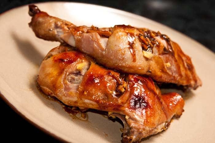muslos de pollo al horno con jengibre y miel