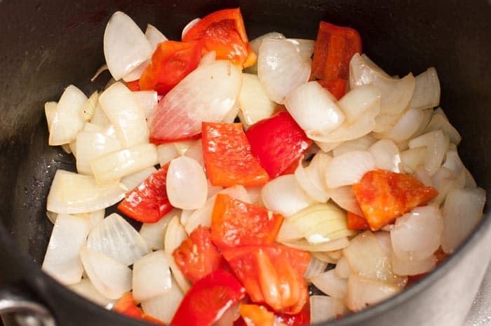 cebolla y pimenton sofritos