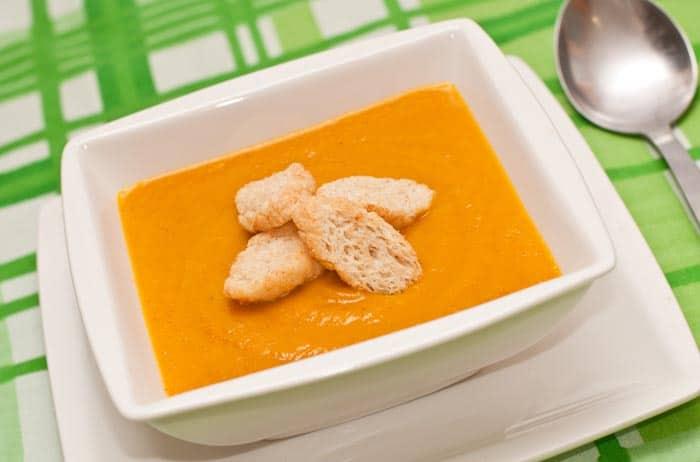 crema de zanahoria y curry
