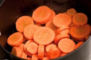 zanahorias cortadas