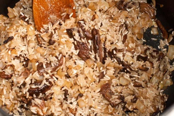 arroz risotto de setas
