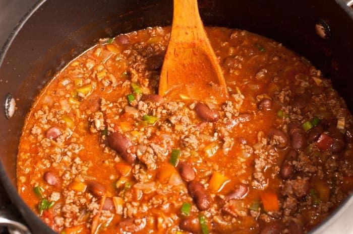 chili con carne listo