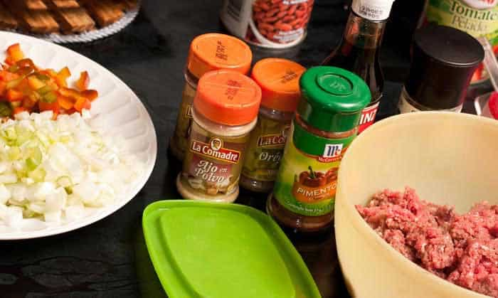 ingredientes chili con carne