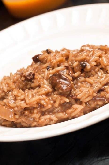 risotto de setas y hongos