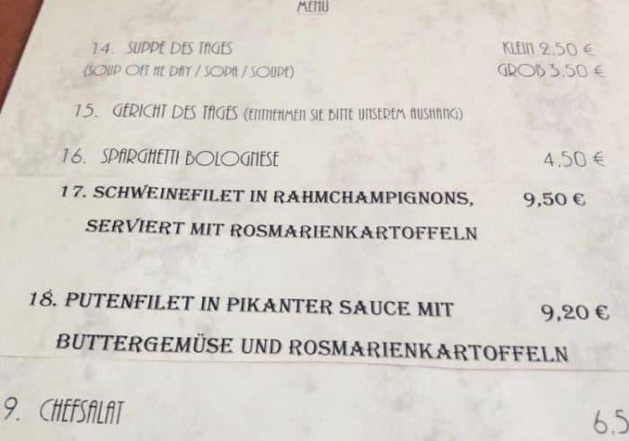 menu para comer en berlin