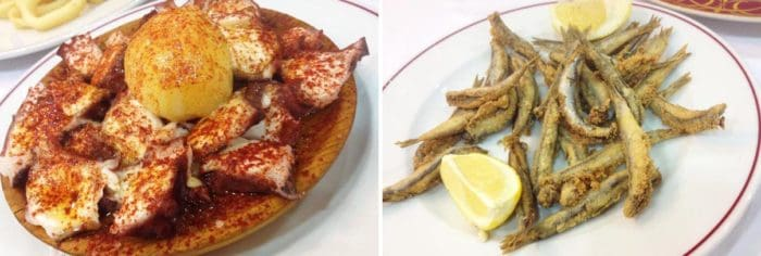 pulpo boquerones madrid
