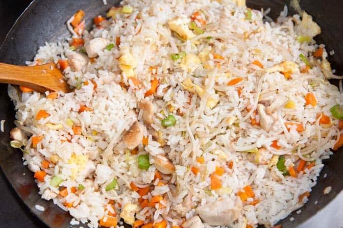 como hacer arroz chino casi listo con sus ingredientes