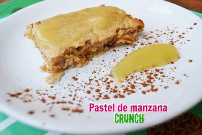pastel de manzana crunch