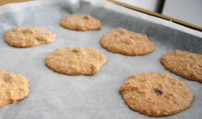 haciendo galletas de avena