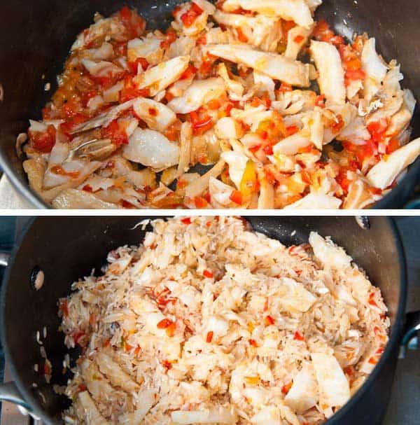 cocinando arroz con bacalao