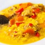 receta arroz caldoso con pollo
