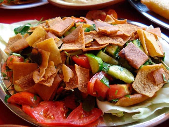 receta saludable ensalada fattoush