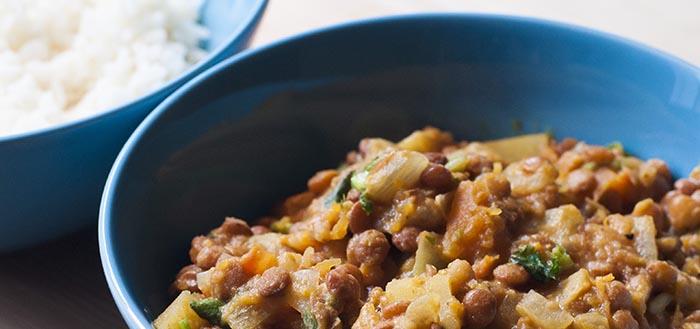 receta de lentejas al curry con calabaza yogurt griego