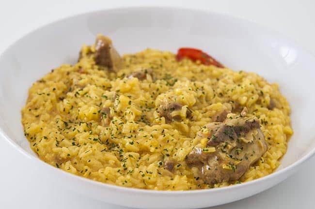 arroz cremoso costillas cerdo