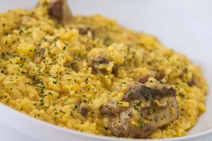 receta arroz cremoso con costillas de cerdo