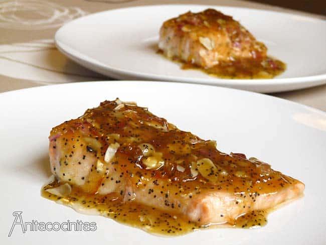 receta de salmón con mermelada de naranja