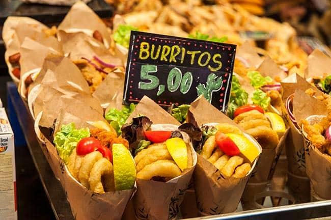 burritos mercado de la boqueria