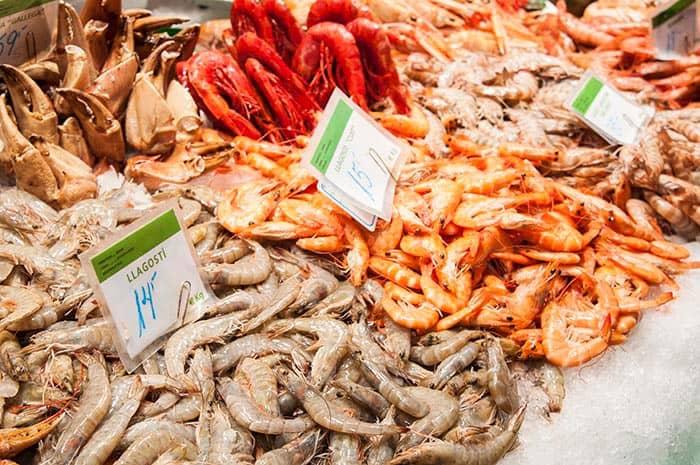 mariscos mercado de la boqueria