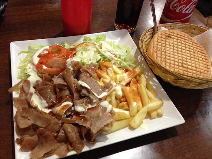 plato doner kebab delicias