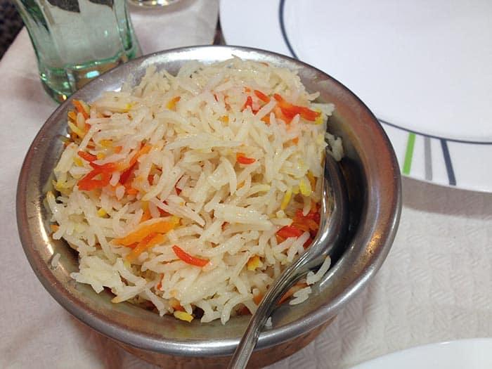arroz basmati comida hindu gujarat