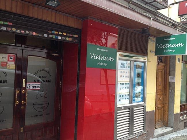 entrada restaurante vietnam mekong