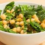 receta de ensalada de garbanzos y espinacas