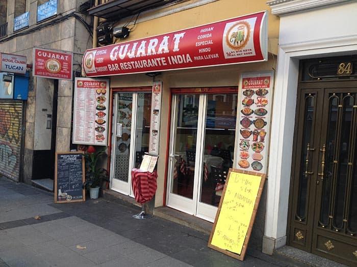 restaurante hindu gujarat madrid