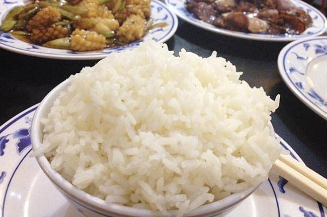 arroz blanco chino