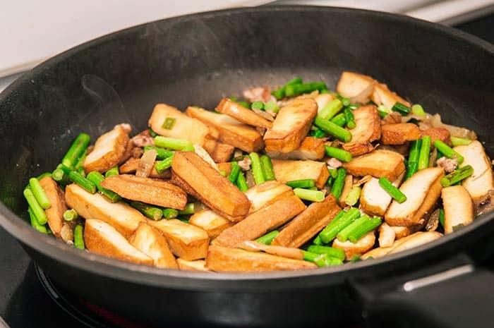 receta china vegetales con tofu ahumado
