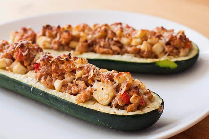 receta de calabacines rellenos de carne picada