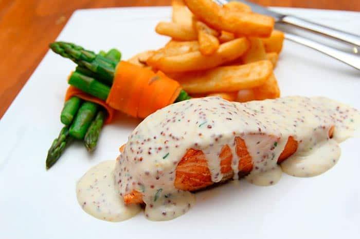 salsa para salmon a la plancha