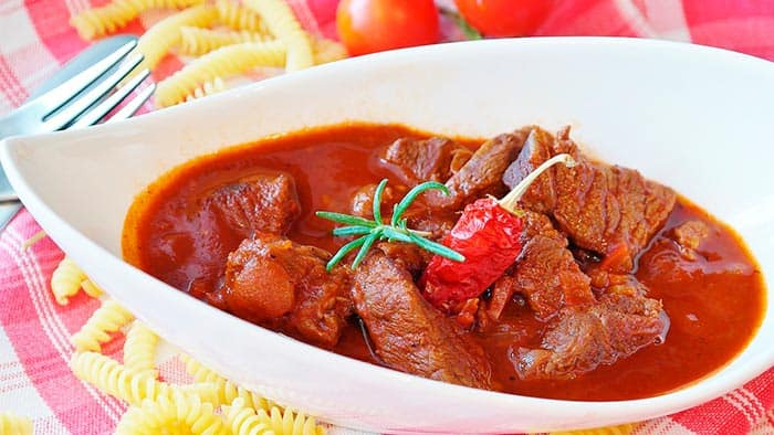 carne guisada receta