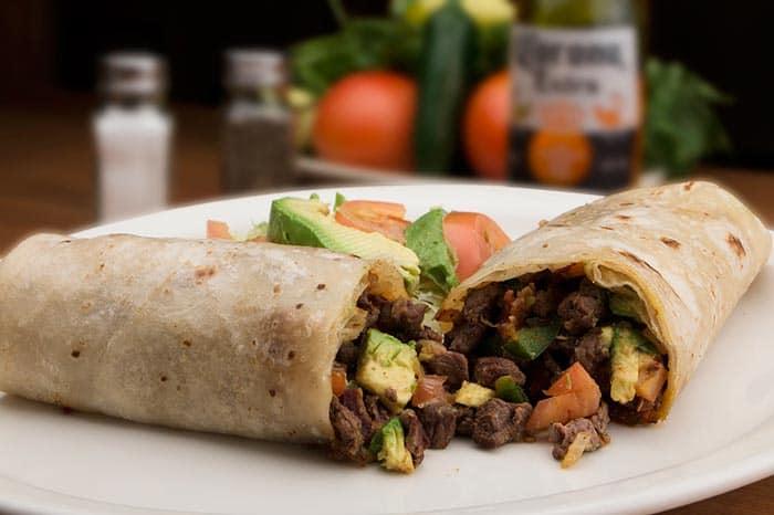 receta del burrito mexicano