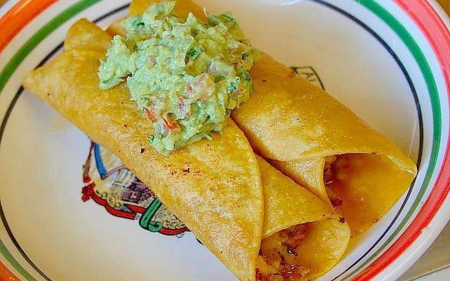 Receta de tacos dorados mexicanos