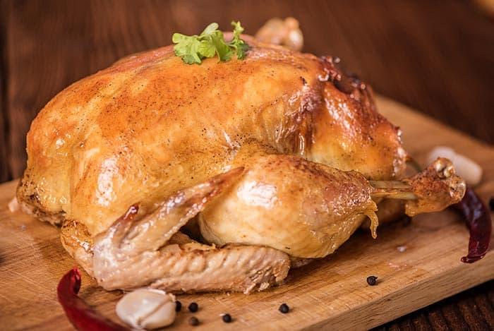 Pollo deshuesado al horno