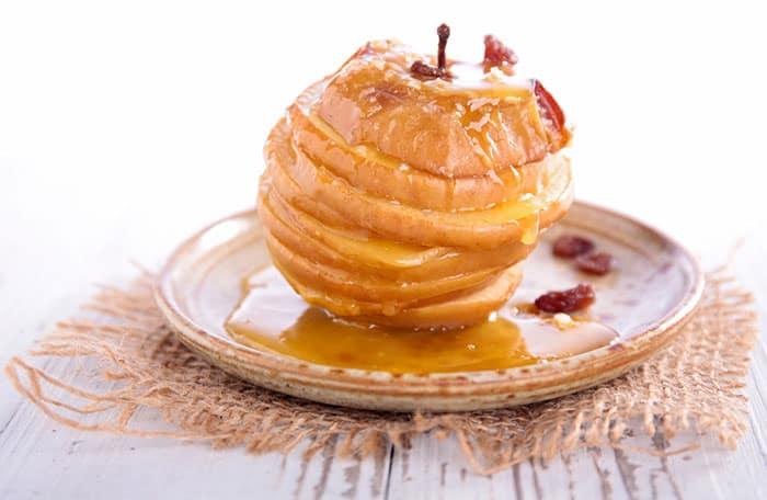 receta de manzanas asadas al horno