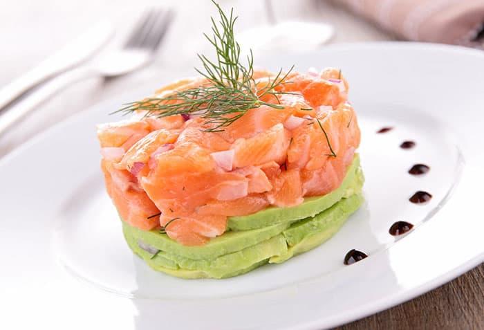 receta tartar de salmon